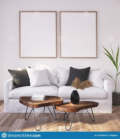 mock  poster frame  home interior background