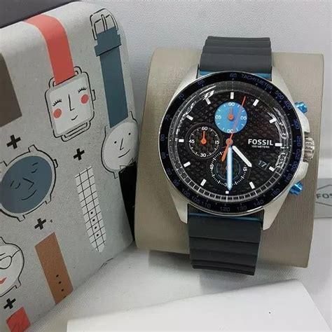 jam tangan pria fossil ch  rubber karet original murah