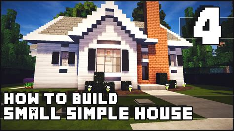 how to build a small home minecraft house how to build simple small house part