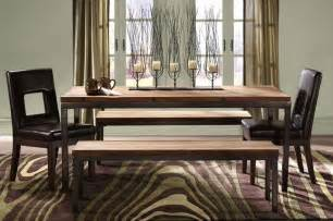 Dining Room Table With Bench Seat Bench Seating Dining Home Decor