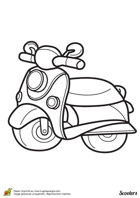 Coloriage scooter une place sur Hugolescargot.com E Bike Clipart