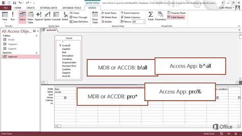 access 2007 tutorial query design access training access 2007 query training