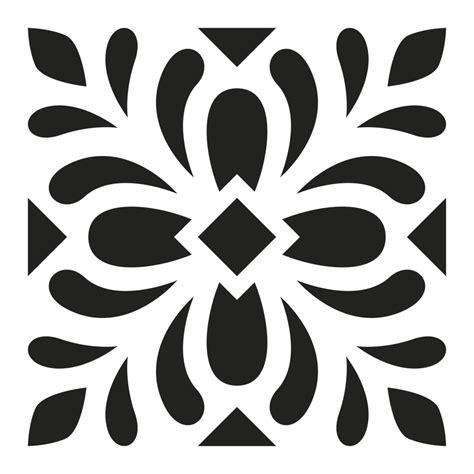 Motif Decoratif pochoir d 233 coratif home deco 15x15 cm motif carreaux de