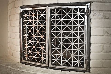 crafted steel fireplace doors by the manufactory llc