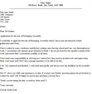 Assembler Programmer Cover Letter by Cover Letter Warehouse Operative