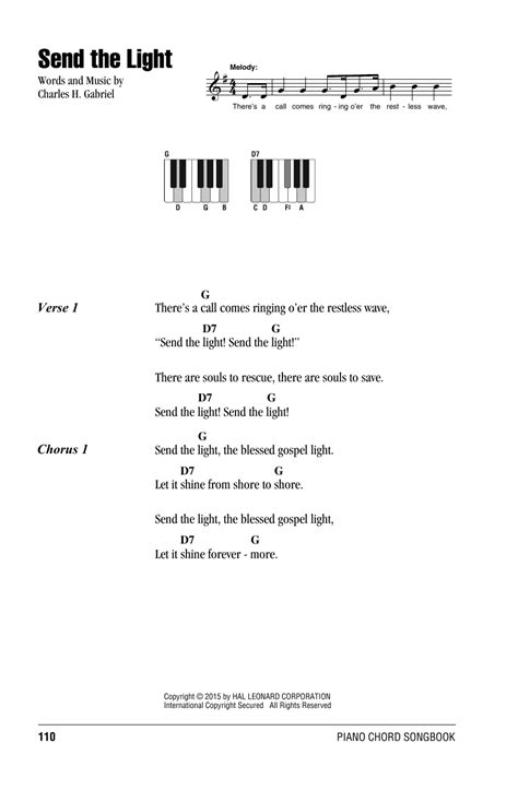 Send The Light Lyrics by Send The Light Sheet By Charles H Gabriel Lyrics Piano Chords 161316