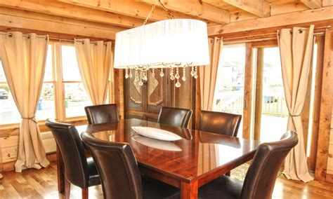 log home dining room light cabin lighting ideas modern