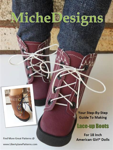 how to make shoes for american dolls pixie faire miche designs lace up boot doll shoe pattern for