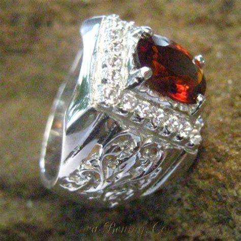 Cincin Putih Wanita Batu Garnet cincin pria silver 925 orange garnet 7 75 us