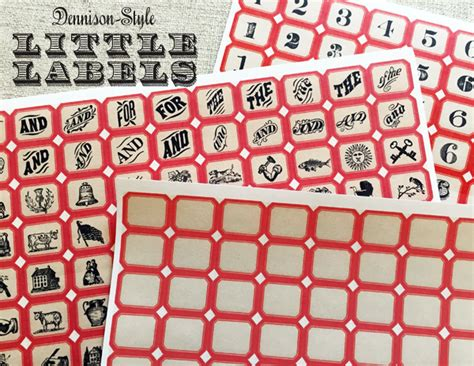 dennison style little labels worldlabel blog