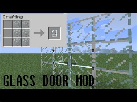 Minecraft Glass Door Mod Youtube Glass Door Minecraft