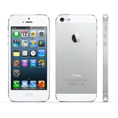 apple iphone 5 64gb white silver