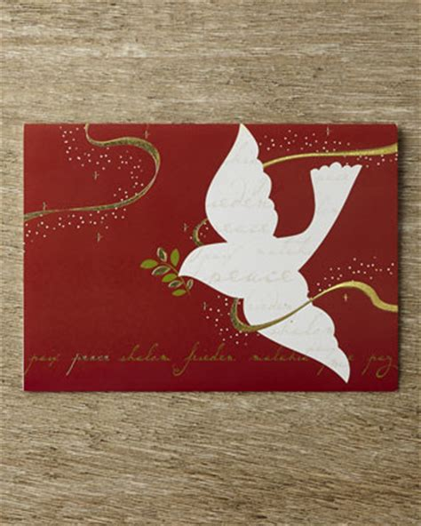 carlson craft 25 quot peace dove quot cards with plain envelopes