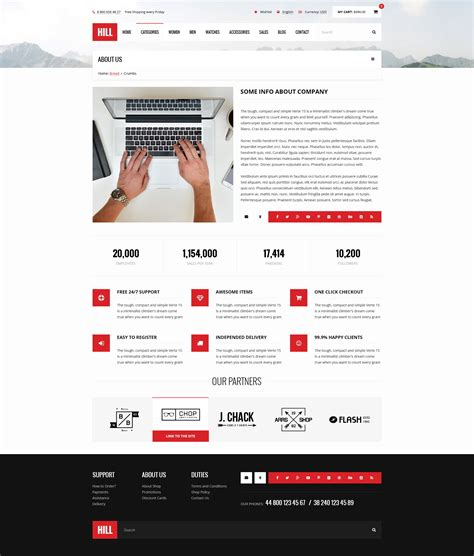 bootstrap templates for about us page hill premium bootstrap ecommerce psd template by
