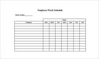 Employee Daily Work Schedule Template by Employee Schedule Template 5 Free Word Excel Pdf