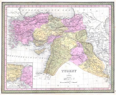 map of turkey and iraq file 1849 mitchell map of turkey iraq syria palestine