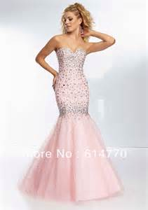 light pink mermaid prom dress promotion shopping