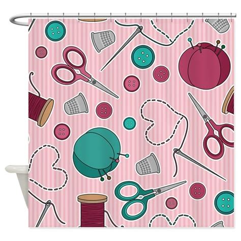 shower curtain sewing pattern cute sewing themed pattern pink shower curtain by cutetoboot