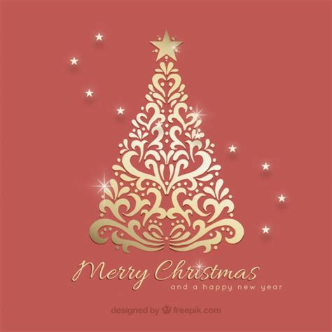 ornamental christmas tree background vector free download