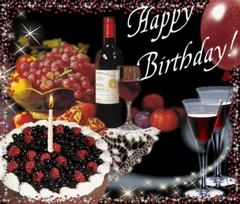 wine birthday gif emoticons gifs collections