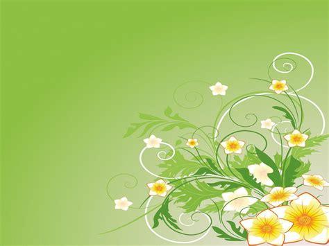 Flower Powerpoint Templates Flowers Green Yellow Green Flower Backgrounds Wallpaper Cave