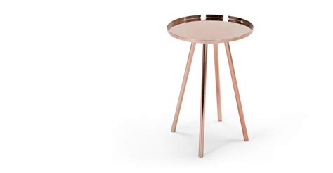 Copper Side Table Alana Bedside Table Copper Made
