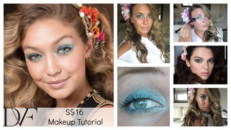 spring tutorial youtube kaushik dvf spring summer 2016 makeup tutorial youtube
