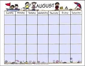 calendar template for children printable calendars calendar template 2017