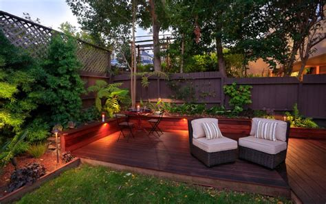 small backyard decks deck lighting ideas that bring out the of the space