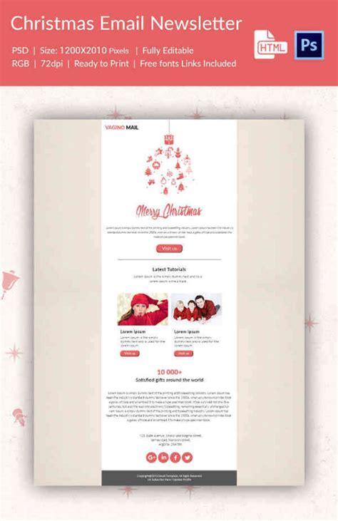 tutorial html newsletter 38 christmas email newsletter templates free psd eps