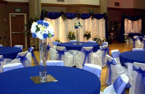 royal blue and silver wedding decor centerpieces wedding