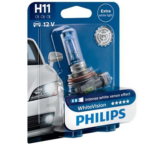 Halogen Philips Vision H11 by H11 Philips White Vision 12v 55w Halogen Bulb