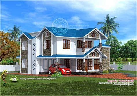 2185 square house exterior house design plans