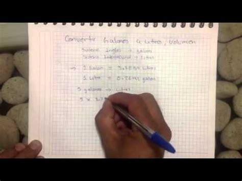 libro litros y litros de convertir galones a litros youtube