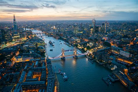 world visits london england at night view look very nice london from the air stunning aerial photos by jason hawkes