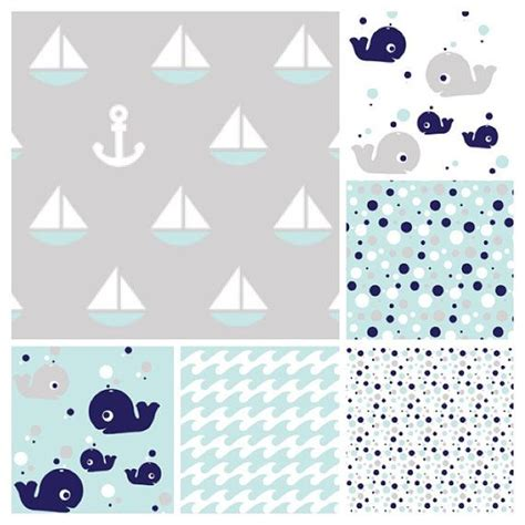 whale baby bedding nautical baby crib bedding set whales sailboats anchors