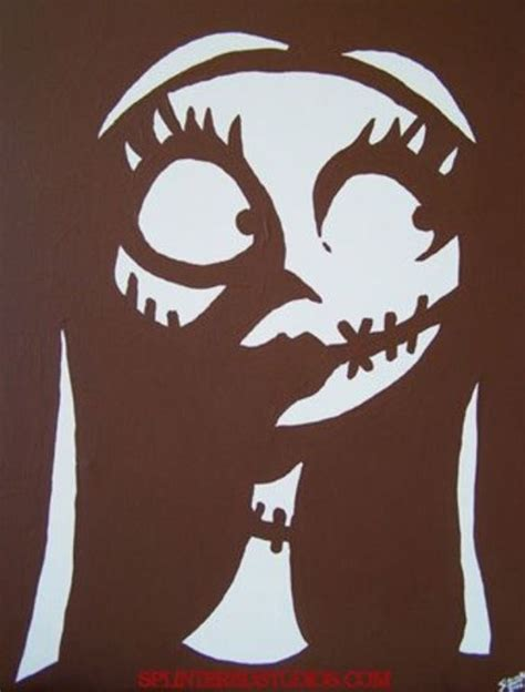 Here S A Template Or Stencil Or Sally Fro Nightmare Before Christmas If You Want To Put On A Nightmare Before Pumpkin Carving Template