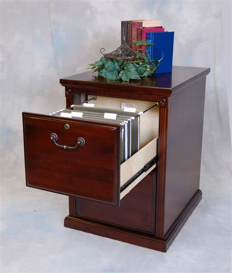 Cherry 2 Drawer Locking Office File Cabinet Wood Locking Wood File Cabinet