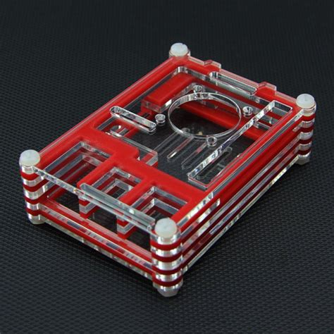 Colorful Arcylic For Raspberry Pi 2 Model B Pcba Promo buy with transparent acrylic shell with fan for raspberry pi 2 model b rpi b