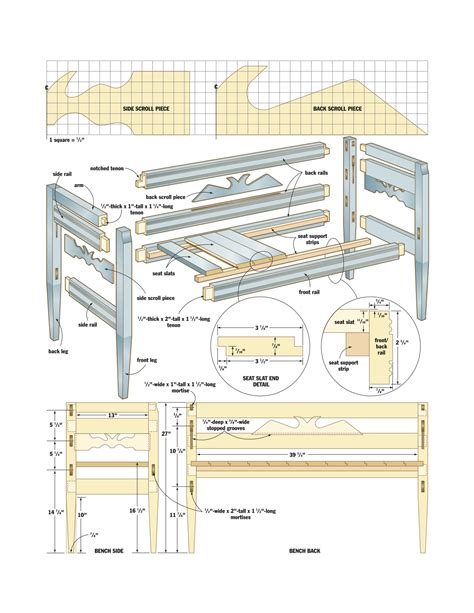woodworking plans wood woodworking plan for bench pdf plans