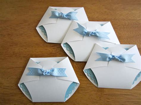 Handmade Invites - handmade baby shower invitation shape