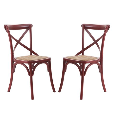 Woven Rattan Dining Chairs Joveco Elm Wood Dining Chair With Woven Rattan Seat