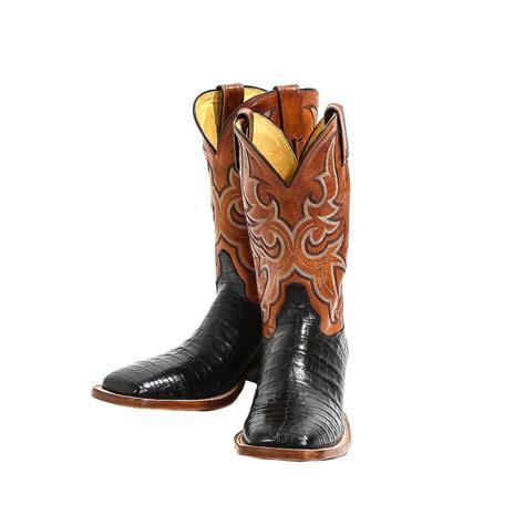 mens justin cowboy boots justin s black caiman cowboy boots