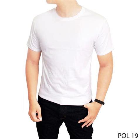 Tshirt Basic O Neck Putih gudang fashion kaos polos pendek pria o neck putih