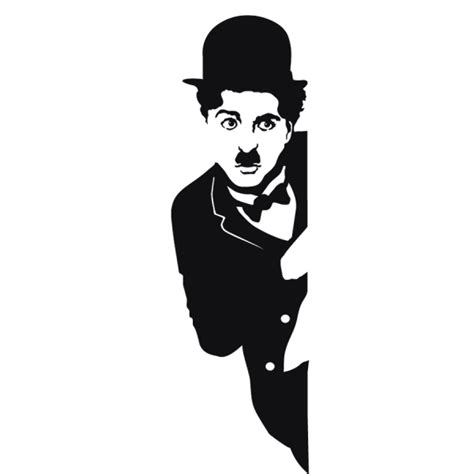 Glass Wall Stickers movies wall decals charlie chaplin