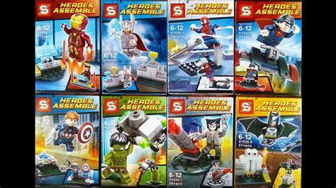 Bootleg Lego Justice League Flash lego marvel dc justice league minifigures knock sheng yuan sy656