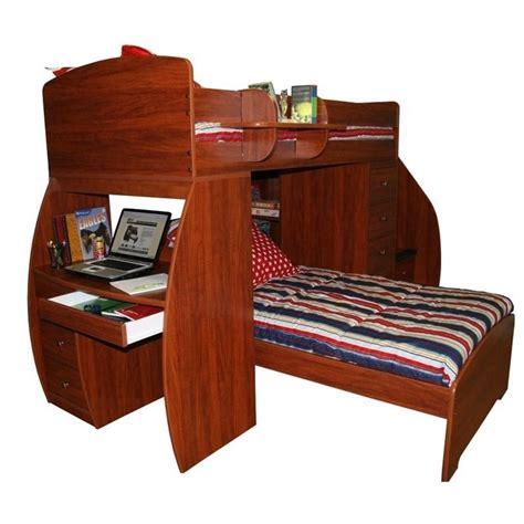 twin bed with desk berg furniture sierra twin over twin loft bed with desk