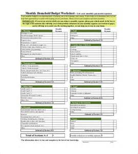 monthly home budget worksheet virallyapp printables