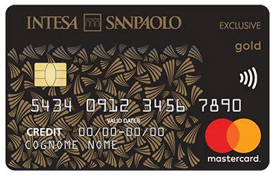 intesa carte di credito carta oro exclusive carte di credito mastercard