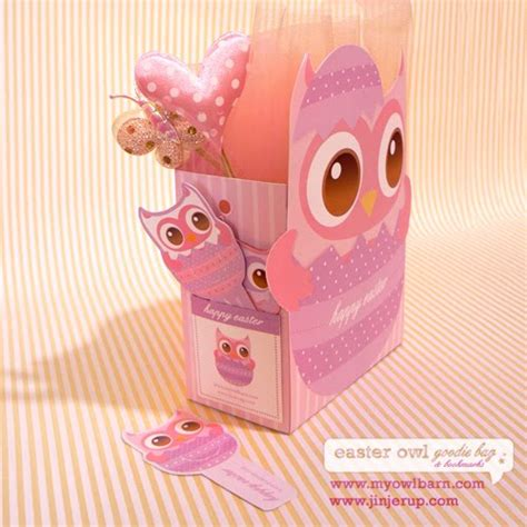 printable owl goodie bag jinjerup easter owl goodie bag bookmarks freebies